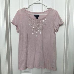 Vintage Ralph Lauren Pink Sequin Shirt